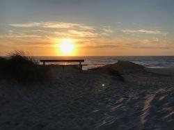 every evening: sunset