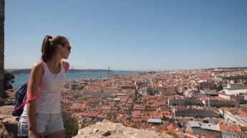 Kathi over Lisbon @ Castle St. George